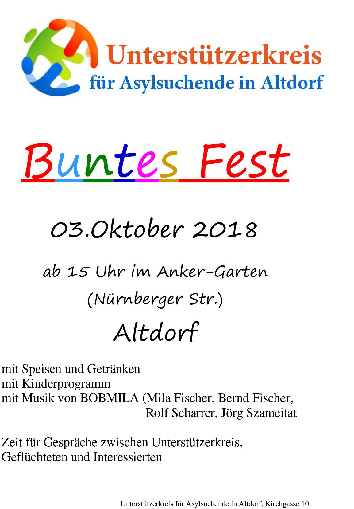 Buntes Fest Plakat